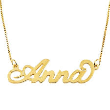 chain with name 18k gold plated sterling silver carrie name necklace
