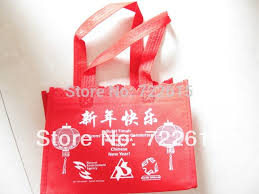 bag new year whole sale custom happy new year nonwoven bags eco reusable tote bag
