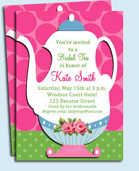 bridal tea party invitation tea invitations printable safero adways