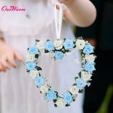 aliexpress com buy heart shaped rose wreath hanging wreaths
