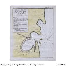 Acapulco Mexico Map by Vintage Map Of Acapulco Mexico 1764 Poster Acapulco Mexico