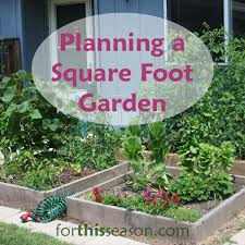 free square foot garden planning tool homes zone