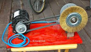 Uses Of A Bench Grinder - portable bench grinder using old furnace motor