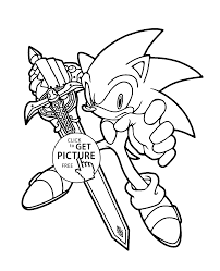 sonic coloring pages for kids printable free coloing 4kids com