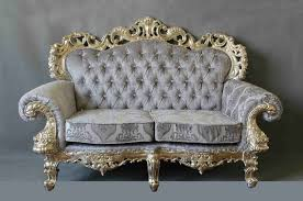 Silver Leaf European Style Antique  Seat Furniture Sofa Designin - Antique sofa designs