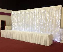 wedding backdrop with lights pipe and drape 3 6m wedding backdrop wedding curtain backdrop