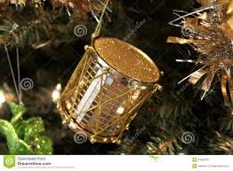 gold drum ornament stock image image 47395557