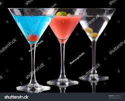 dry martini art cocktails betty blue cocktail cosmopolitan stock photo