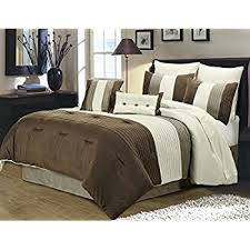 Taupe Comforter Sets Queen Amazon Com Madison Park Palmer 7 Piece Comforter Set Natural