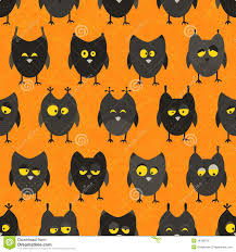 halloween cats background halloween owl seamless vector background royalty free stock