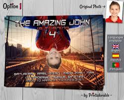 Spiderman Invitation Cards Spiderman Invitation Amazing Spider Man Birthday Invite