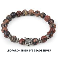 beads charm bracelet images Natural stone bead charm bracelet owl leopard lion designs a jpg