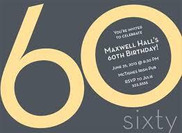 60th birthday invites free template sample birthday invitation