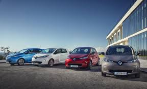 renault alliance blue electric vehicle groupe renault