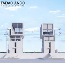 mnmmod tadao ando house 4x4 sketchup models visualization and archviz