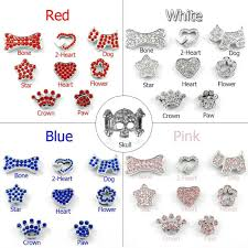 name charms didog personalized soft pu leather small dog collars