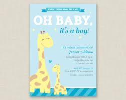 printable baby shower invitations giraffe baby shower invitation printable baby shower