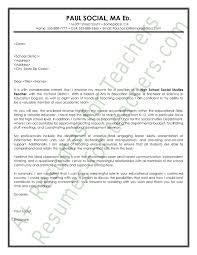sample resume cover letter for teachers graduate teaching