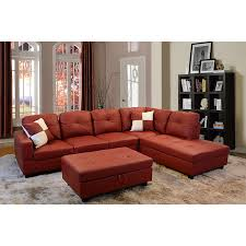 Ottoman Red by Amazon Com Beverly Furniture Beverly Red 3 Piecefaux Leather Left