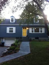 Front Door Colors For Gray House Yellow Door And Blue House Google Search Home Pinterest