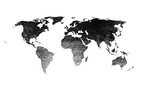 Black World Map by World Map Png Walldevil