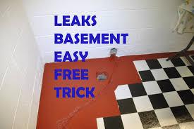 basement leaks easy trick free information waterproofing youtube