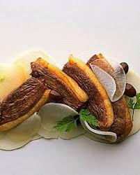 cuisiner un canard gras côtelettes de canard gras salade de navets tièdes pour 3 personnes