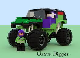 grave digger monster truck toys lego ideas monster jam ice cream man vs grave digger