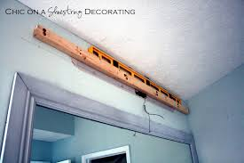 Chic On A Shoestring Decorating How To Build A Bathroom Light Fixture Diy Bathroom Light Fixtures