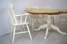 oval table and chairs extended oval pine pedestal table and 6 beech chairs painted vintage