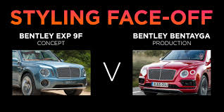 bentley exp 9 f bentayga v bentley exp 9f concept styling face off
