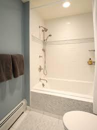 Fiberglass Bathroom Showers Amazing Fiberglass Bathtub Shower Combo Soaker Tub Design Intended