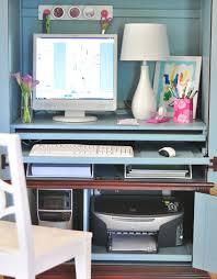 White Computer Armoire Desk Best 25 Hideaway Computer Desk Ideas On Pinterest Desk Under