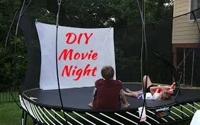 how to transform a springfree trampoline into a diy outdoor movie