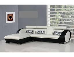 Montana Black And White Leather Corner Sofa LeftHand SNET - Corner sofa design