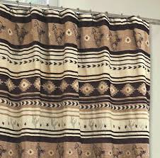 Western Fabric For Curtains Western Shower Curtains Brown Mustang Horses Chenille Fabric