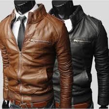 men s fashion jackets collar slim motorcycle genuine leather jacket coat outwear jk3