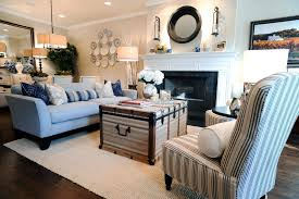 living room with blue accents cozy white english rolled arm sofa