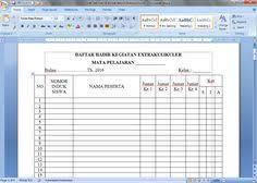 format absensi ujian contoh format daftar hadir guru dan tenaga administrasi sekolah