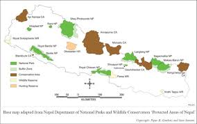 Map Of Nepal And Tibet by National Parks And Iccas In The High Himalayan Region Of Nepal