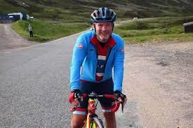 Blind Man Rides Bike Newton Stewart Man Cycles The Length Of Scotland In Memory Of His
