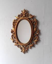 Elegant Wall Decor by Decorating Unique Traditional Oval Gold Decorative Wall Mirrors