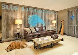 Rustic Basement Ideas Barn Wood Wall Beth Rosenfield Design Contemporary Basement