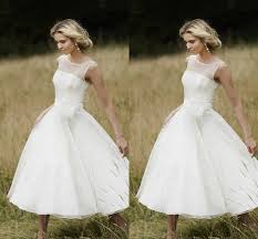 aliexpress com buy vintage 1950 style short wedding dress tea