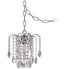 swag ls that plug in nicolli clear crystal 8 wide swag plug in mini chandelier estelle