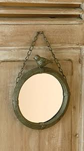 amazon com shabby cottage chic wall mirror with bird home decor