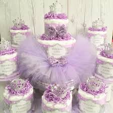 lavender baby shower decorations lavender and silver princess tutu cake centerpiece set