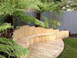 Backyard Corner Landscaping Ideas by Beautiful Backyard Landscape Design View Of Colorful Trees And