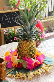 easy pineapple luau centerpiece pineapple centerpiece