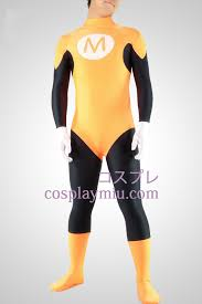 yellow and black stripe bruce lee lycra spandex superhero zentai